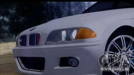 BMW M3 E46 Sedan pour GTA San Andreas vue de droite