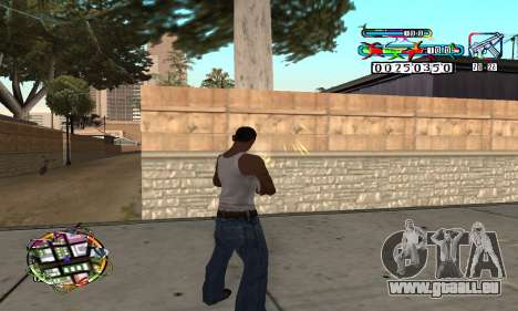 C-HUD Color pour GTA San Andreas deuxième écran