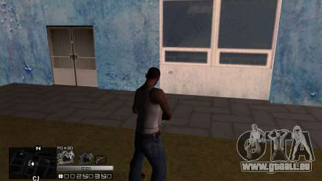 C-HUD Silver pour GTA San Andreas deuxième écran