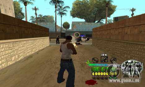 C-HUD Groove Street für GTA San Andreas dritten Screenshot
