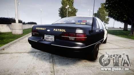Chevrolet Caprice 1991 Highway Patrol [ELS] Slic pour GTA 4 Vue arrière de la gauche