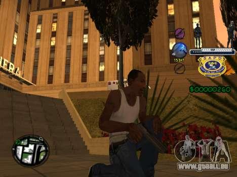 C-HUD Police S.A.P.D pour GTA San Andreas troisième écran
