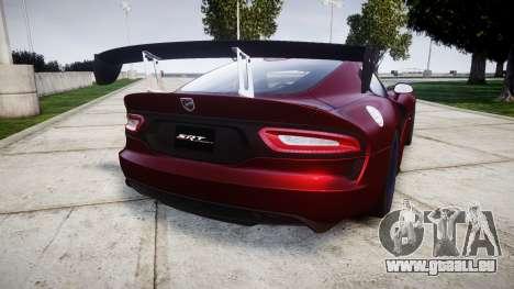 Dodge Viper SRT GTS 2013 für GTA 4 hinten links Ansicht