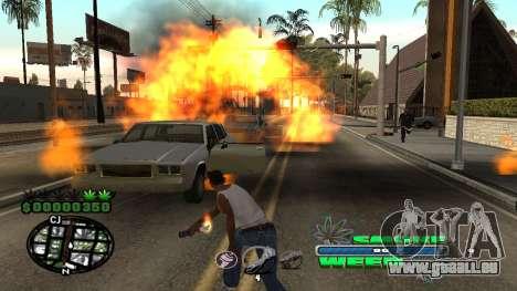C-HUD Smoke Weed pour GTA San Andreas cinquième écran