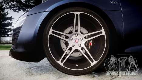 Audi R8 plus 2013 HRE rims pour GTA 4 Vue arrière
