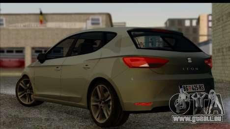 Seat Leon Fr 2013 pour GTA San Andreas laissé vue