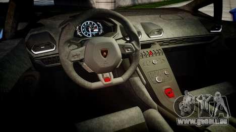 Lamborghini Huracan LP610-4 2015 Sharpie pour GTA 4 est une vue de l'intérieur