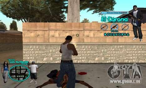 C-HUD Aztec El Corona für GTA San Andreas dritten Screenshot