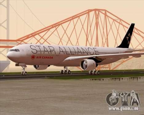 Airbus A330-300 Air Canada Star Alliance Livery für GTA San Andreas obere Ansicht