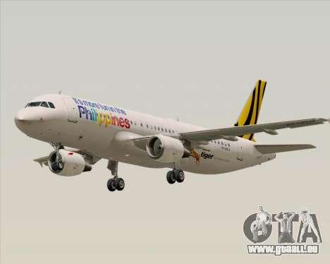 Airbus A320-200 Tigerair Philippines für GTA San Andreas zurück linke Ansicht