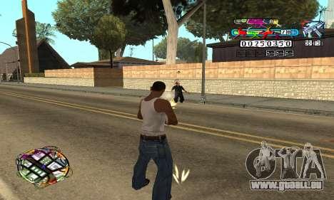 C-HUD Color pour GTA San Andreas troisième écran