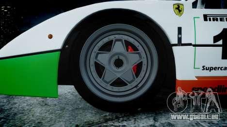 Ferrari F40 1987 [EPM] Jolly Club für GTA 4 Rückansicht