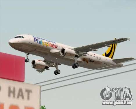 Airbus A320-200 Tigerair Philippines pour GTA San Andreas vue de dessous