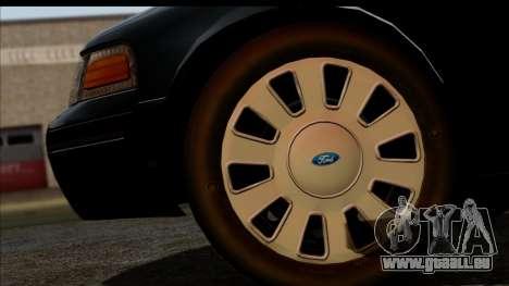 LAPD Ford Crown Victoria Whelen Lightbar für GTA San Andreas rechten Ansicht