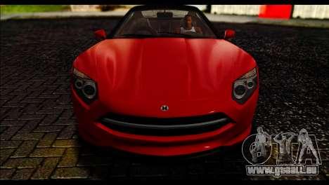 GTA 5 Hijak Khamelion IVF pour GTA San Andreas sur la vue arrière gauche