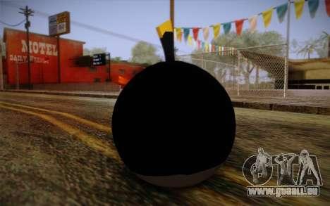 Black Bird from Angry Birds pour GTA San Andreas deuxième écran