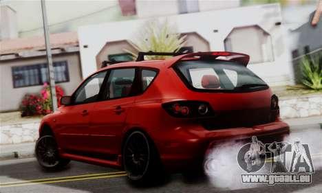 Mazda 3 MPS pour GTA San Andreas laissé vue