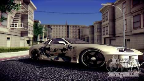 Toyota Supra Street Edition pour GTA San Andreas vue de droite