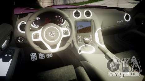 Dodge Viper SRT GTS 2013 für GTA 4 Innenansicht