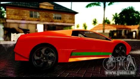 GTA 5 Pegassi Infernus [HQLM] pour GTA San Andreas sur la vue arrière gauche