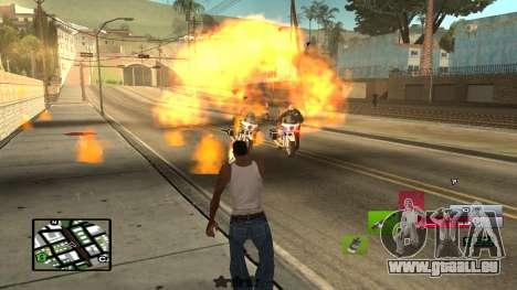 C-HUD by SampHack v.19 pour GTA San Andreas troisième écran
