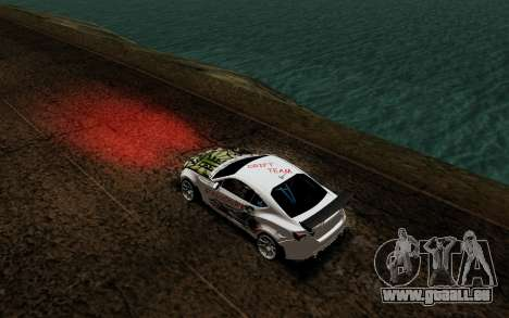 Subaru BRZ VCDT für GTA San Andreas Rückansicht