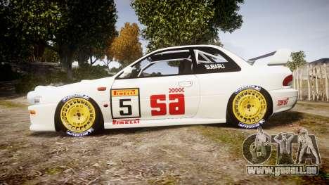 Subaru Impreza WRC 1998 v4.0 SA Competio pour GTA 4 est une gauche