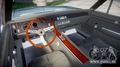 Dodge Charger RT 1969 pour GTA 4 Vue arrière