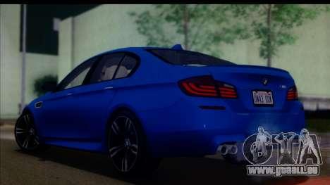 BMW M5 F10 2012 für GTA San Andreas linke Ansicht