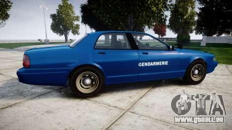 GTA V Vapid Police Cruiser Gendarmerie2 für GTA 4 linke Ansicht