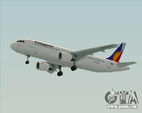 Airbus A320-200 Philippines Airlines für GTA San Andreas Innenansicht