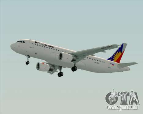 Airbus A320-200 Philippines Airlines pour GTA San Andreas vue intérieure