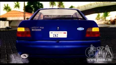 Ford Escort RS Cosworth pour GTA San Andreas vue arrière