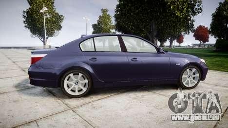 BMW 525d E60 2009 pour GTA 4 est une gauche