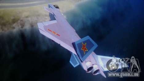 Chenyang J-20 Air Force BF4 für GTA San Andreas zurück linke Ansicht