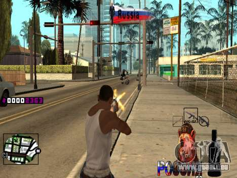 C-HUD RussiA pour GTA San Andreas quatrième écran