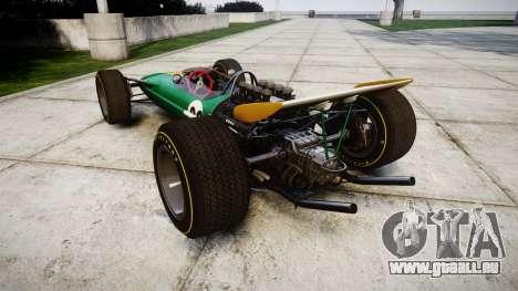 Lotus Type 49 1967 [RIV] PJ25-26 pour GTA 4 Vue arrière de la gauche