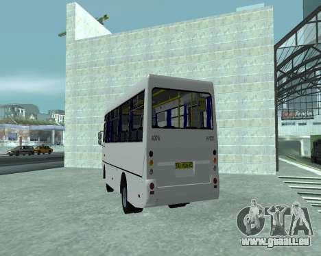 I-Van A07A pour GTA San Andreas sur la vue arrière gauche