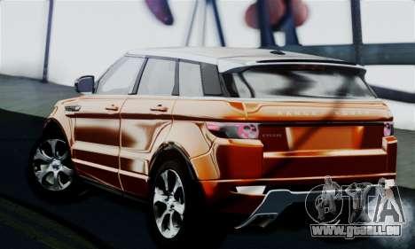Range Rover Evoque 2014 pour GTA San Andreas laissé vue