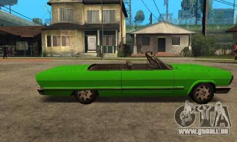 Beta Savanna pour GTA San Andreas sur la vue arrière gauche