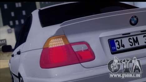 BMW M3 E46 Sedan pour GTA San Andreas vue intérieure
