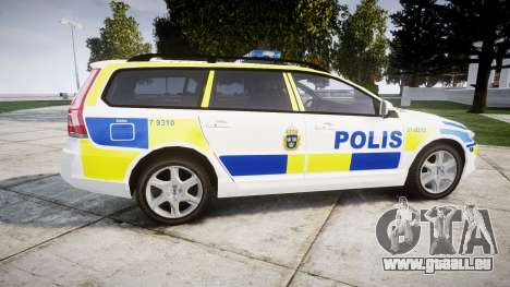 Volvo V70 2014 Swedish Police [ELS] Marked für GTA 4 linke Ansicht