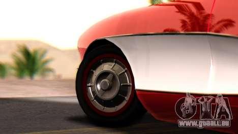 Chevrolet Corvette C1 1962 für GTA San Andreas zurück linke Ansicht