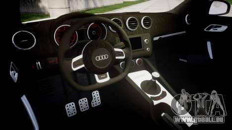 Audi TT RS 2010 pour GTA 4 est une vue de l'intérieur