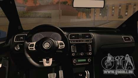 Volkswagen Polo GTi 2014 pour GTA San Andreas sur la vue arrière gauche