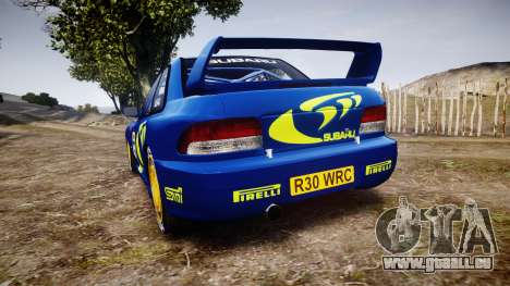 Subaru Impreza WRC 1998 v4.0 World Rally für GTA 4 hinten links Ansicht
