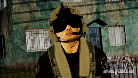 Russian Helicopter Pilot from Battlefield 4 für GTA San Andreas dritten Screenshot