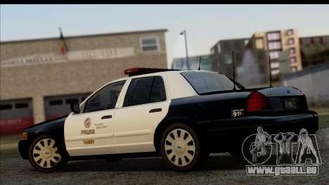 LAPD Ford Crown Victoria Whelen Lightbar für GTA San Andreas linke Ansicht
