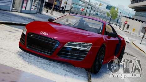 Audi R8 V10 Plus 2014 v1.0 pour GTA 4