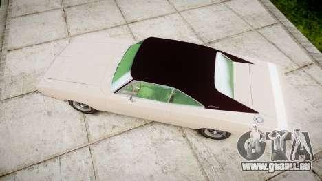 Dodge Charger RT 1969 pour GTA 4 est un droit